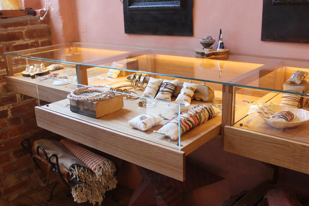 Custom jewelry display cases for SCOSHA  NYC