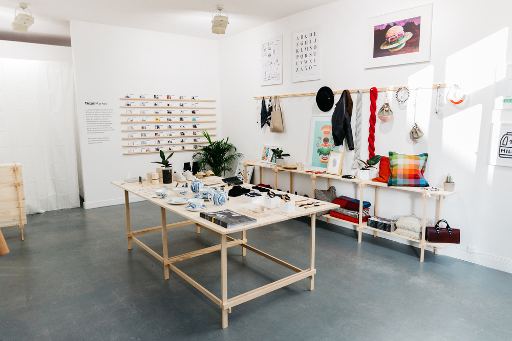 Tictail holiday pop up store design and fabrication  Paris