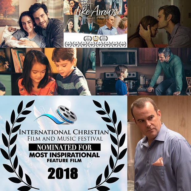 Thank you, International Christian Film Festival for 8 total nominations including Most Inspirational film!  Like Arrows has also been nominated for... -Best Picture! -Best Lead Actor @alanpowell10 -Best Lead Actress @micahlynnhanson -Best Supporting Actress @katherine_shepler -Best Director @kevin_peeples -Best Screenplay -Best Musical Score - by Kyle McCuiston  www.InternationalCFF.com #likearrows @dennisrainey @blepine @the_kendrick_brothers @familylifeinsta @likearrowsmovie