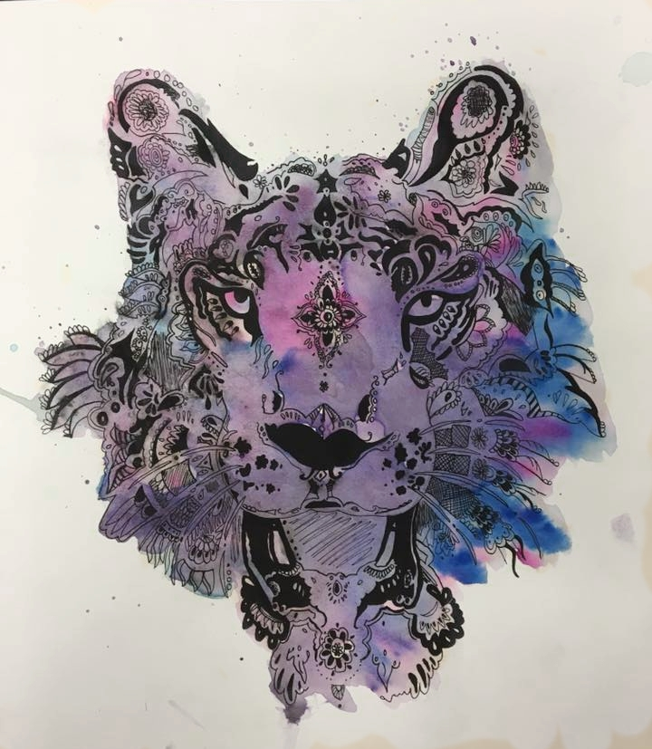 Watercolor & ink 9th grade
