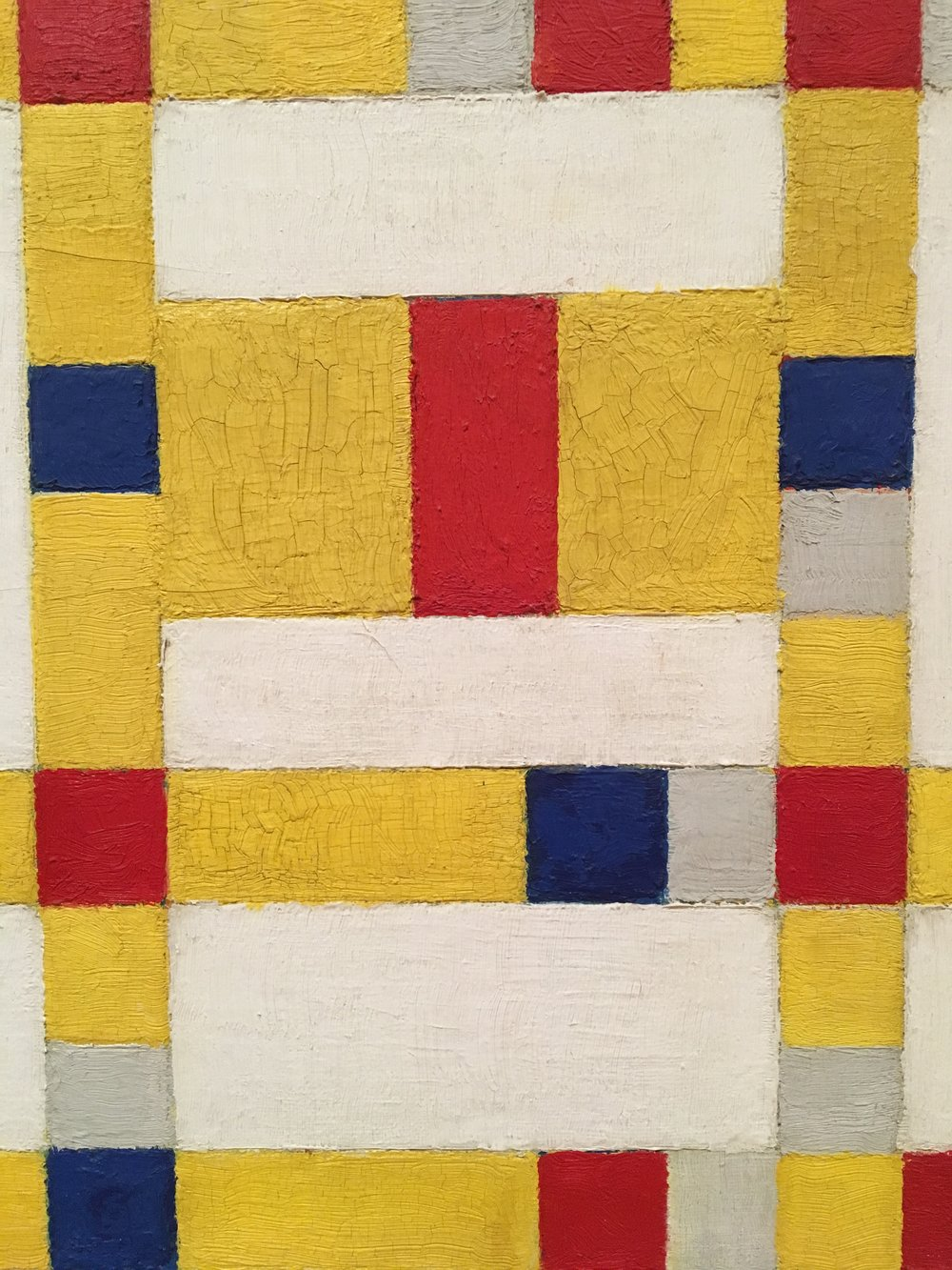 Piet Mondrian - The Netherlands-based De Stijl movement embraced an abstract, pared-down aesthetic centered in basic visual elements such as geometric forms and primary colors. artstory.org