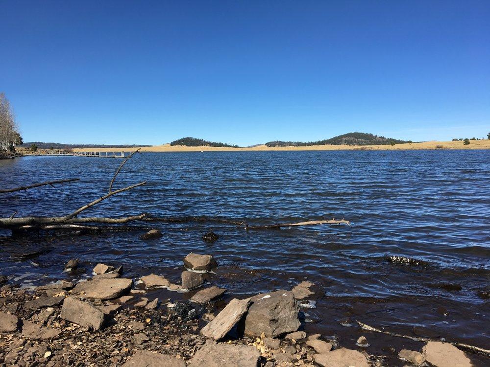 AZ white Mountains Lake