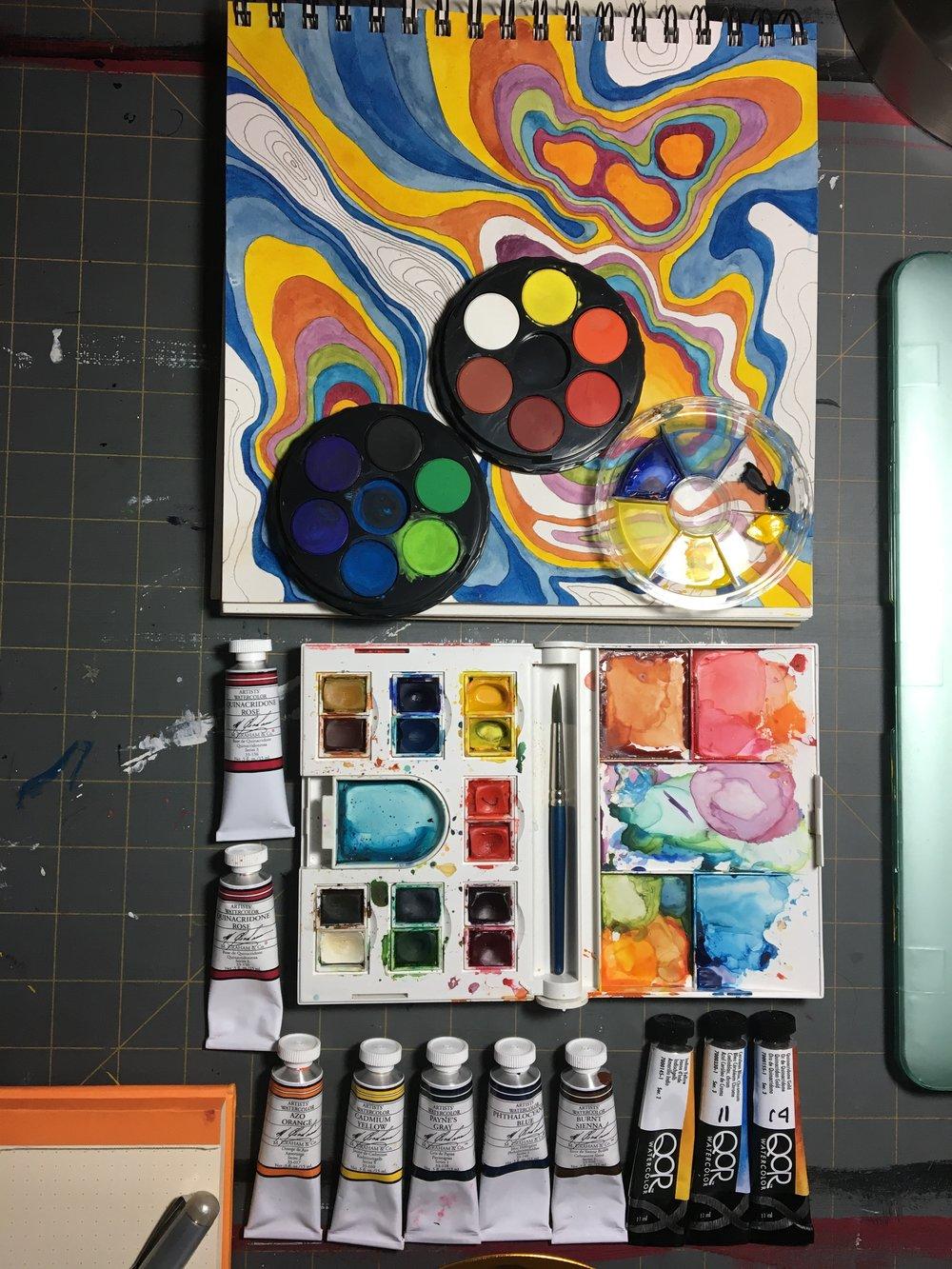 QOR Watercolor Tubes