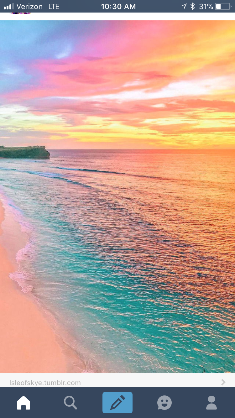 An obviously edited picture from the internet with a lovely pastel sunset.