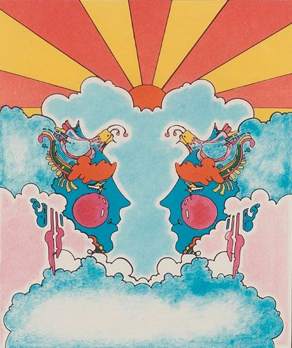 The artwork of  Peter Max .