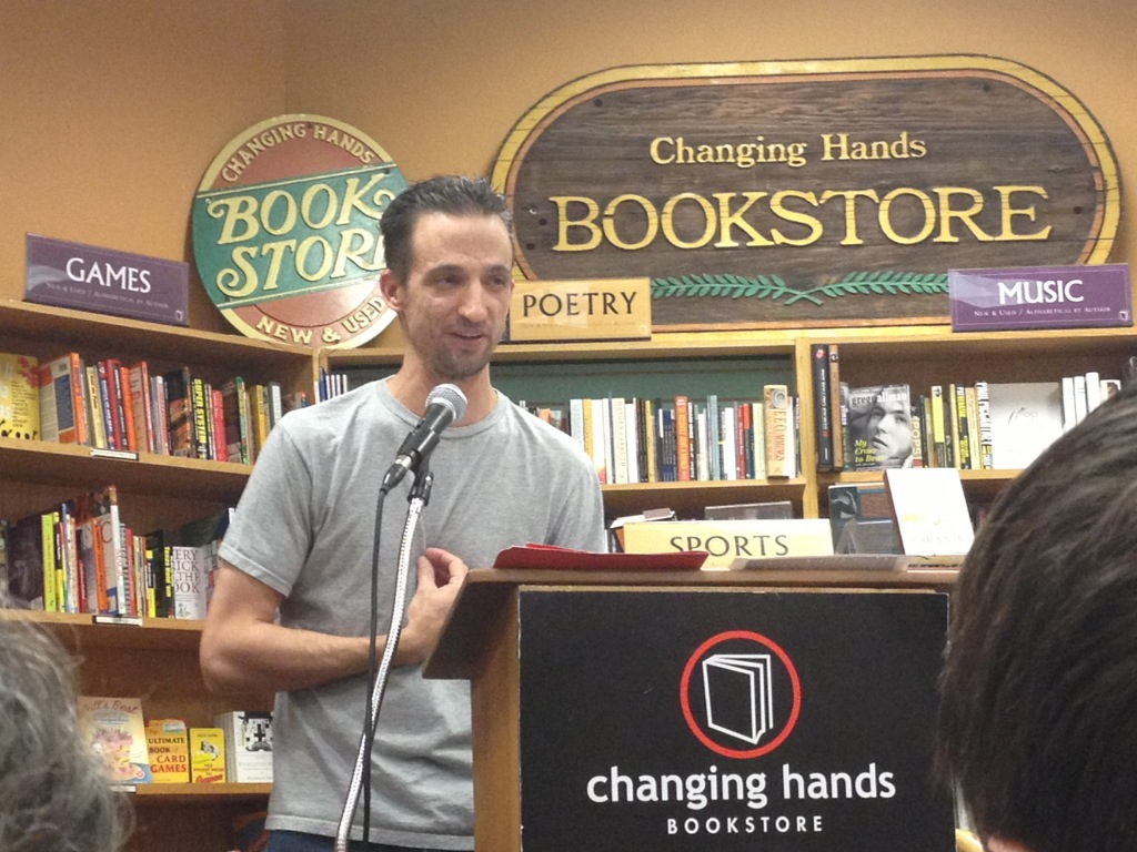Tom Leveen at AZ Indie fave, Changing Hands Bookstore