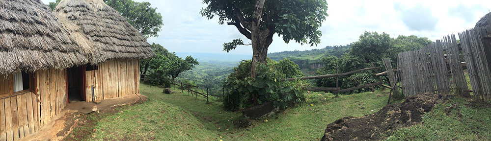 The view from our hut at Sipi.