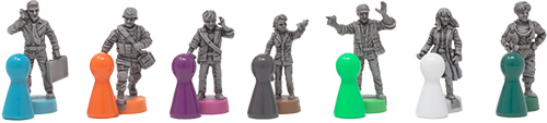 The bases for each figure are roughly comparable to the size of a pawn, meaning they won't crowd your board!