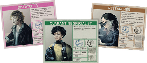 Each role has its own card with quick reference information on the back.