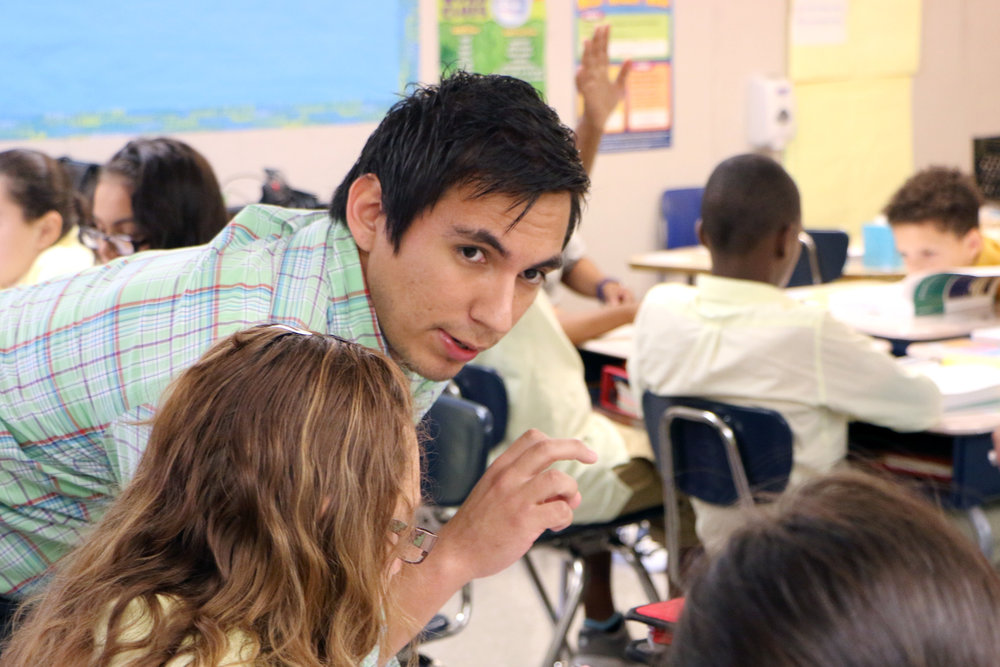 ADRIAN TAPIA JOINED URBAN TEACHERS IN 2015.