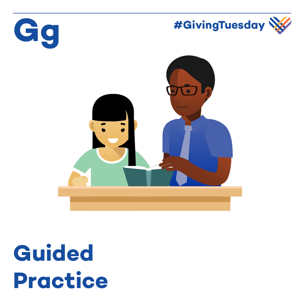 Guided practice is interactive instruction between teacher and student. After the teacher introduces new learning, they engage students in a similar task to what they will complete later in the lesson independently.