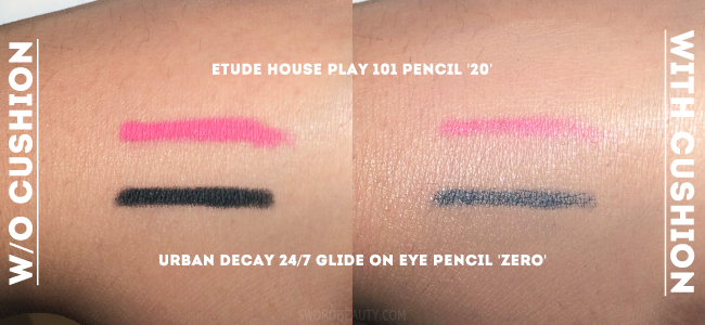 All my cushion reviews include this exact same swatch style. Check out the one for the   Laneige   and   Etude House   Cushion!