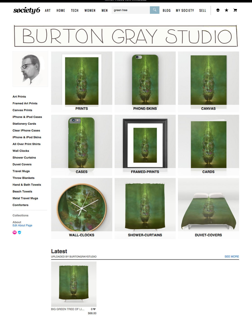 society6 art products