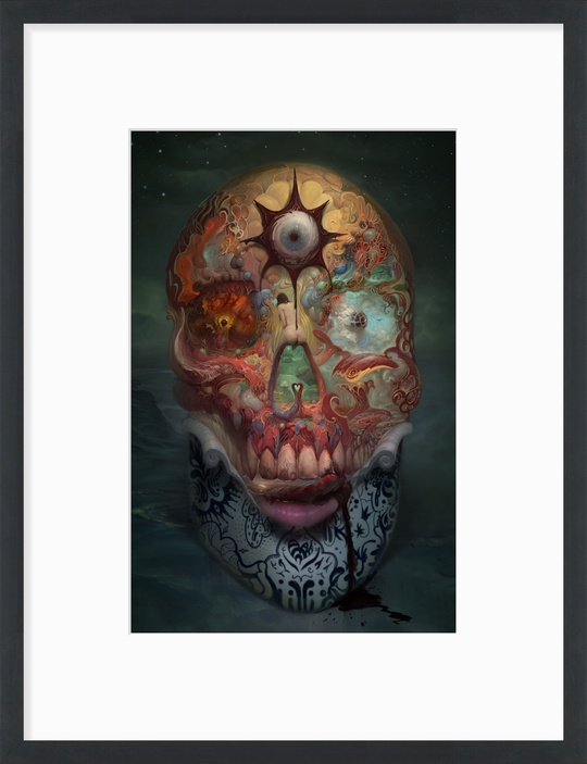 """24x36"""" framed SKULL -$235 Click on image to see other size and frame options. Produced by InPrnt.com"""