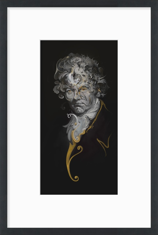 """24x36"""" framed LUDWIG ~$280 Click on image to see other size and frame options. Produced by InPrnt.com"""