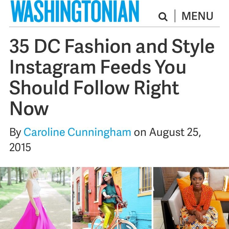 35 DC Fashion & Style Instagram Feeds You Should Follow Right Now - Washingtonian Magazine