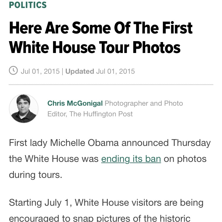 Here Are Some of the First White House Tour Photos - Huffington Post