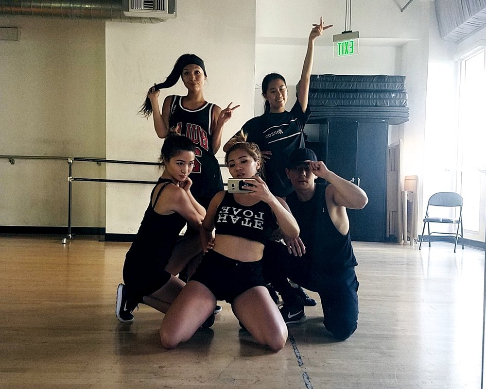 First rehearsal with Lilian, Cindy, Kimiko, and Aron at IDA Hollywood