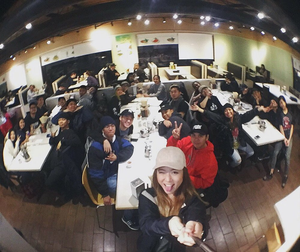 We rolled DEEP to this Vietnamese restaurant. As evident in my use of  BOTH  A SELFIE STICK AND A WIDE-ANGLE LENS  As hungry as I was, I couldn't help but hop from table to table, asking as many questions and getting to know as many dancers as possible.  I freaking hate small talk anyway, and with such limited time, I definitely did not want to waste any on the shallow or safe.  I found myself talking about my insecurities, my love life, my stresses with work, and receiving responses just as genuine.  It was quite the  pho filling meal.