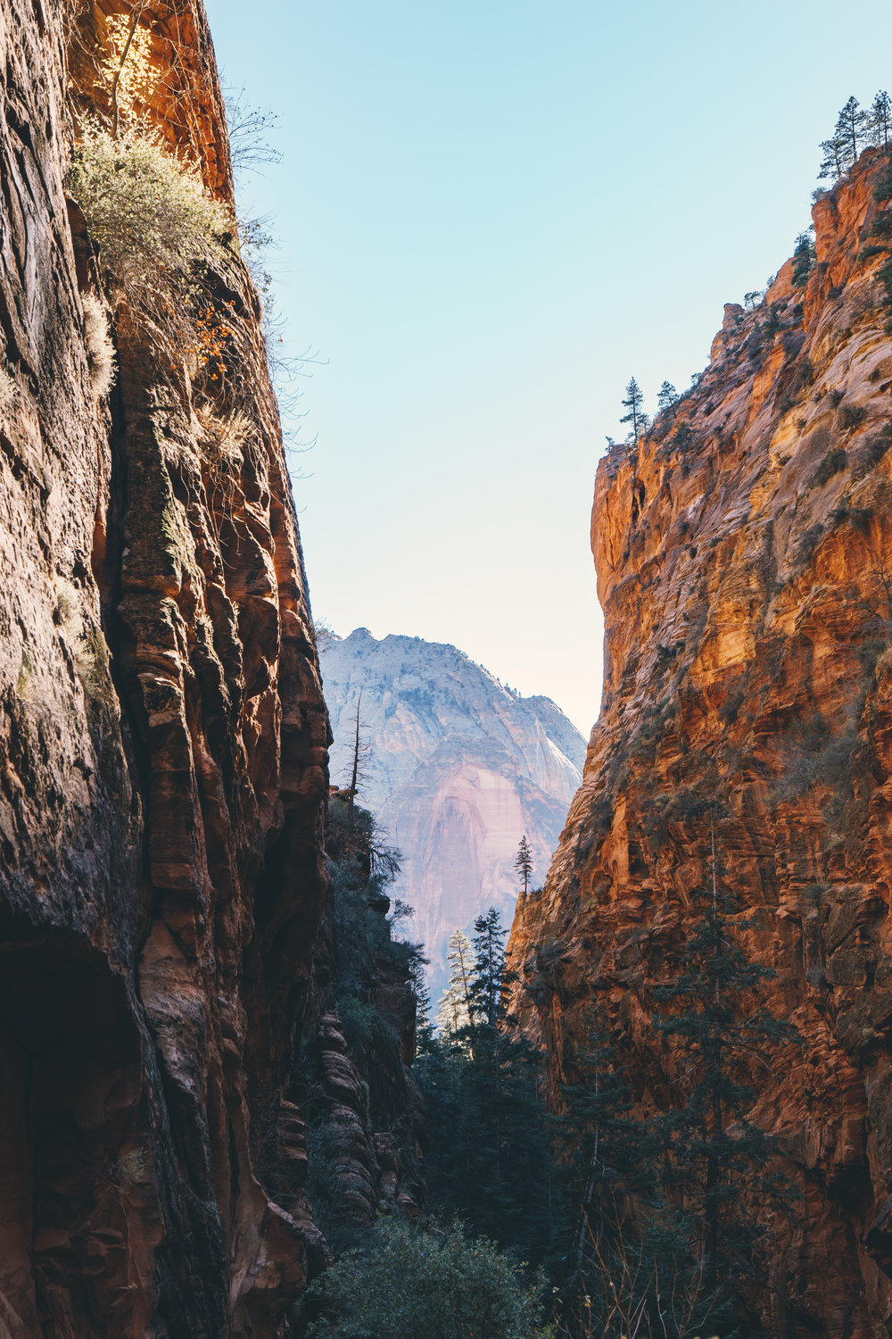 Looking back through the canyons to where we came from.