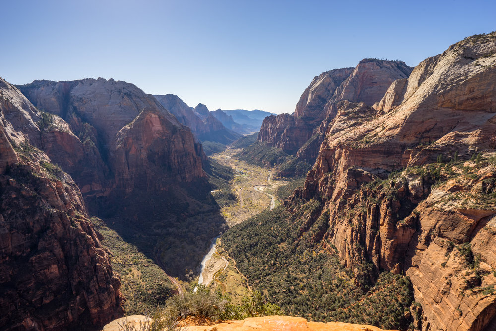 A view from the top of the  Angels Landing . Click on the image for the post detailing breathtaking hike.