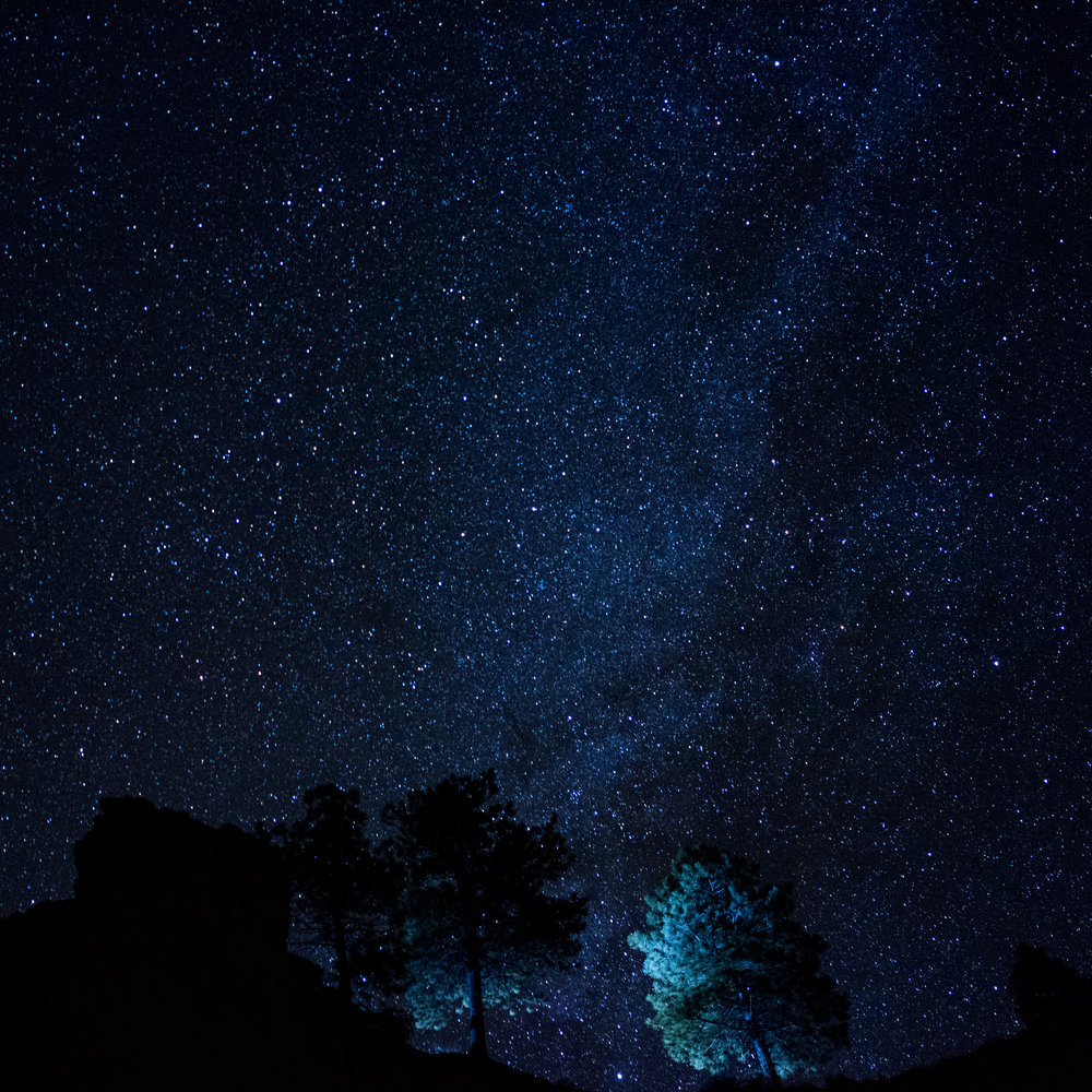 The Milky Way is facing away from the canyons in the winter time.