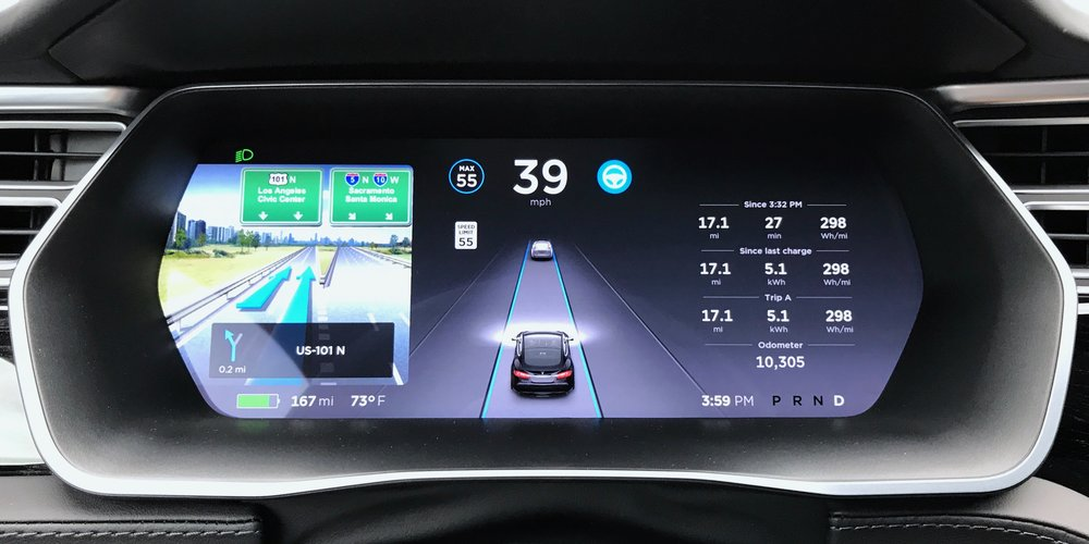 Navigation is also shown in the driver's dashboard. Although the graphics looks a bit out of place.