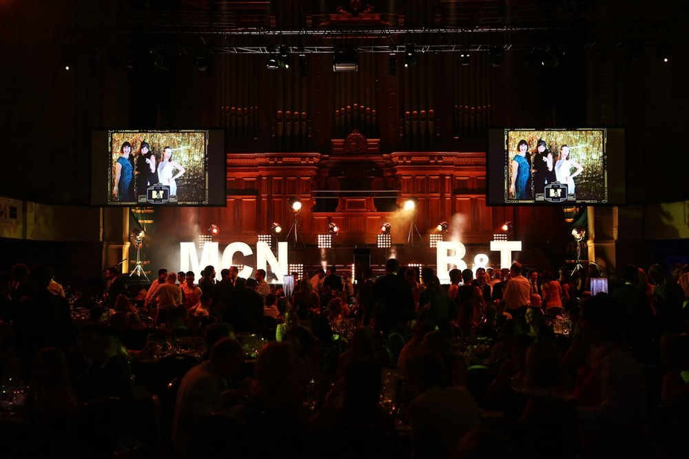 Photo: B&T. The short videos were played on some very big screens at the awards!