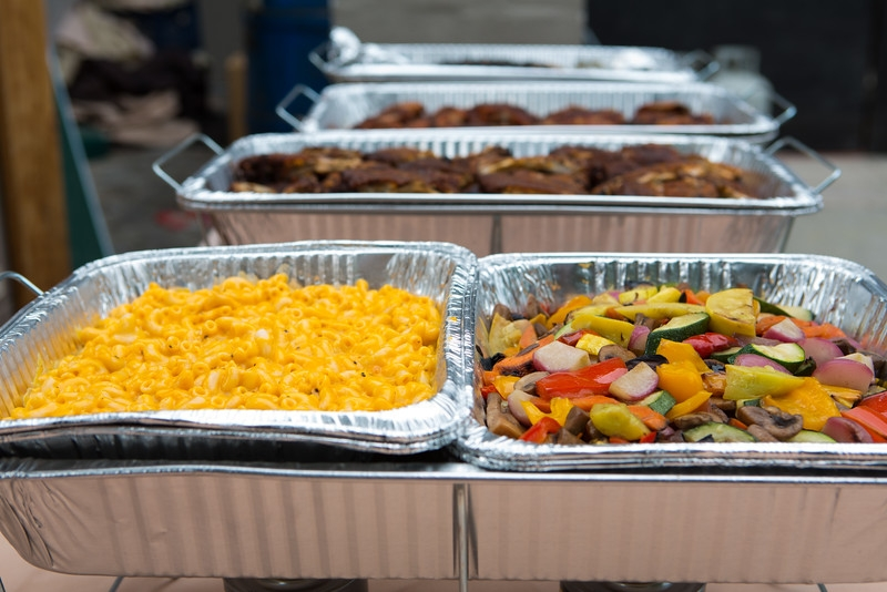 Mac & Cheese, Charred Veggies and some smoked meats made a delicious meal for this private event!