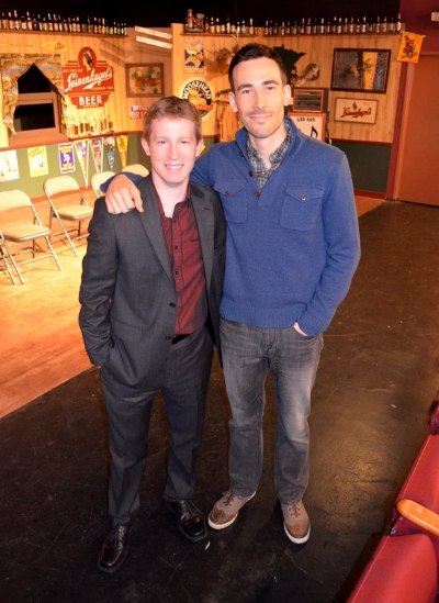 Stephen and Matthew Leslie at the live reading of  Abandon Ship!