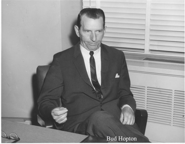 "Retired FBI SA, W. E. ""Bud"" Hopton, at TBI @1960's - Courtesy Mrs. Diane Cart, Secretary at TBI"