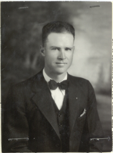 "Henry ""Hank"" Sloan - Application Photo 1935 (courtesy Sloan family)"