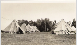 Army tents used by FBI agent trainees, Ft. Washington, MD 1935 (Courtesy Sloan family)