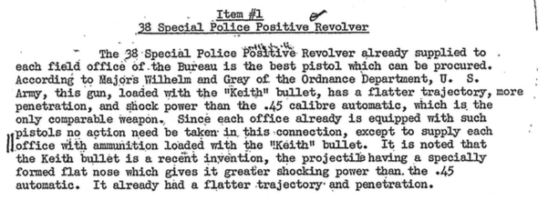 The Committe's adoption in 1933 of the .38 Special Police Positive Revolver