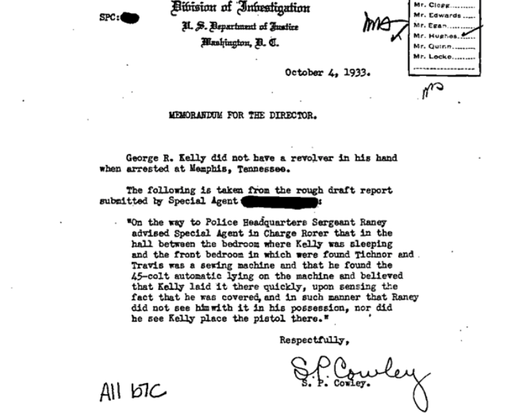 (Click to enlarge) Inspector Cowley's official report: Dispelling the myth that Kelly held a weapon at the time of his arrest.