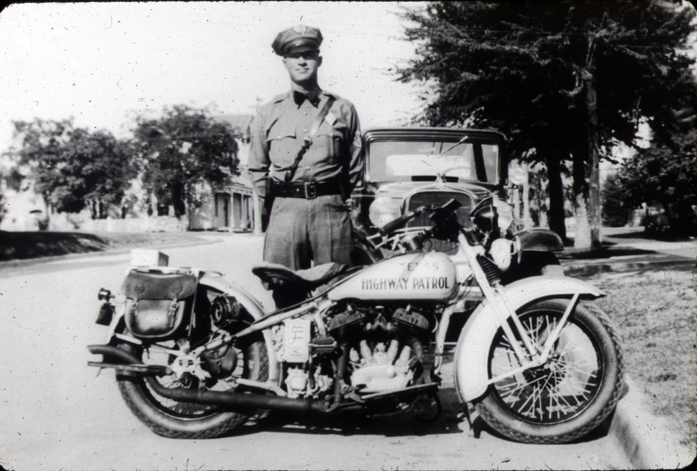"""Hank"" Sloan as a Texas Department Of Safety (Highway Patrol)  motorman."