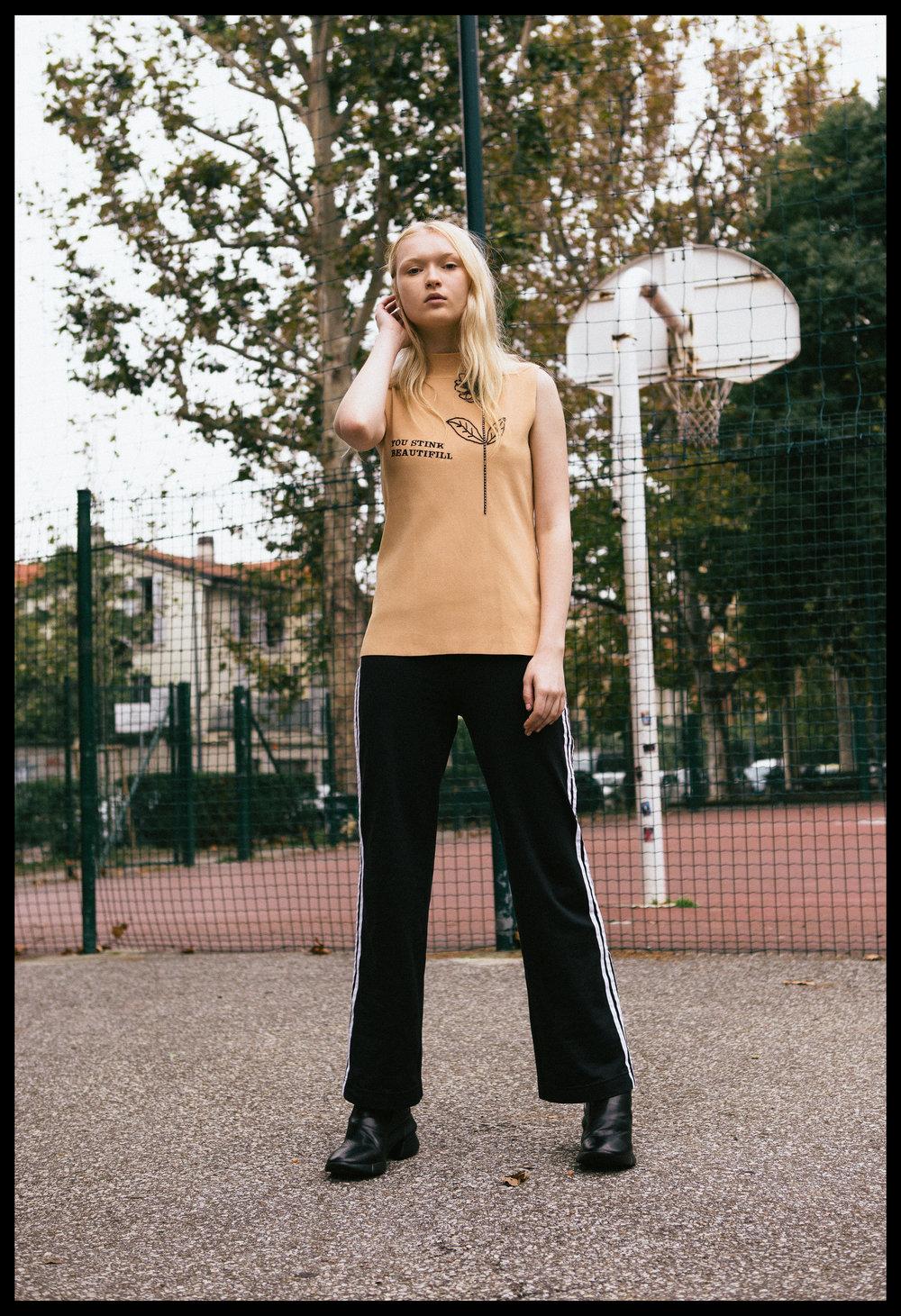 top VINTAGE, trousers ADIDAS VINTAGE, boots Elena lachi