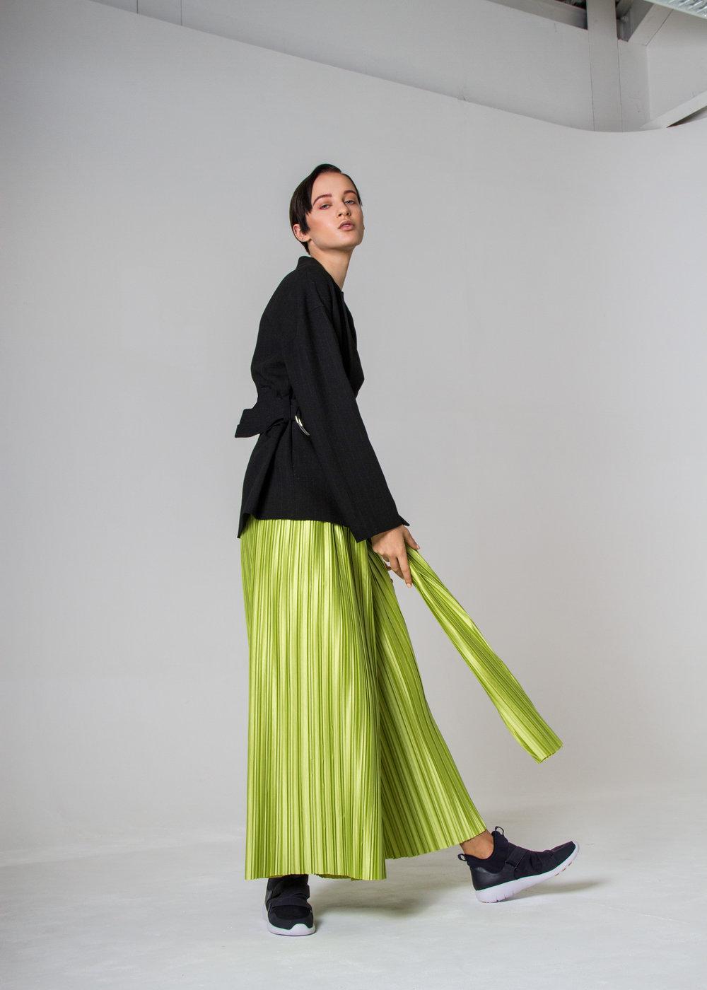 trousers MAGDALENA CZARNIECKA, blazer ZARA, shoes H&M