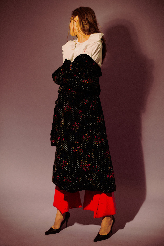 shirt SISLEY, velvet duster +bodysuit @ HUMANA VINTAGE MILANO