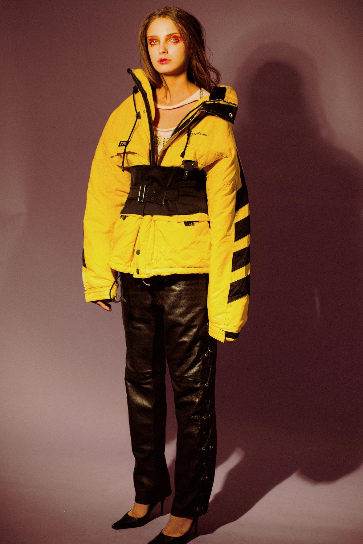 shirt DENNY ROSE, coat SERGIO TACCHINI, pants @ HUMANA VINTAGE MILANO,belt STYLIST'S ARCHIVE