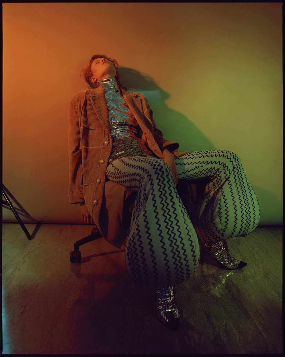 jacket  STEVEN TAI , turtleneck + shoes  MAX LUO , trousers PO KALAM,