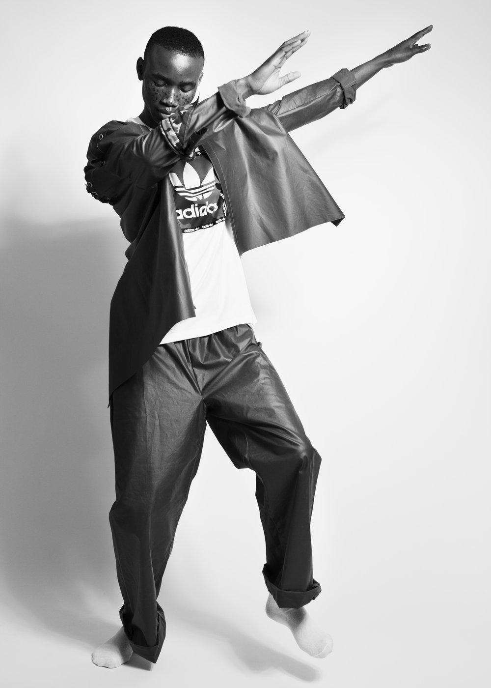 t-shirt ADIDASjacket + trousers JULIA ANDERSEN