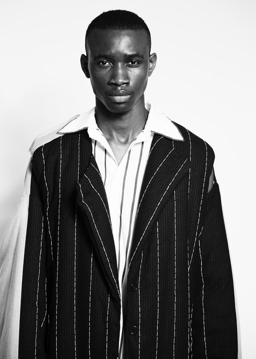 black & white shirt + jacket JULIA ANDERSEN