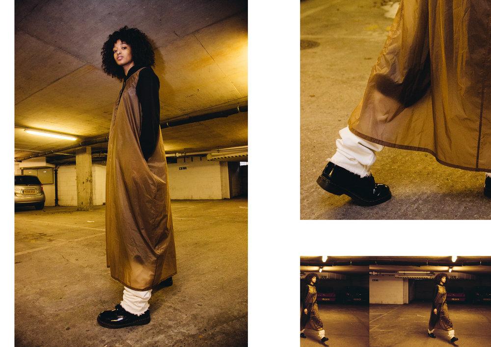 model wears COS