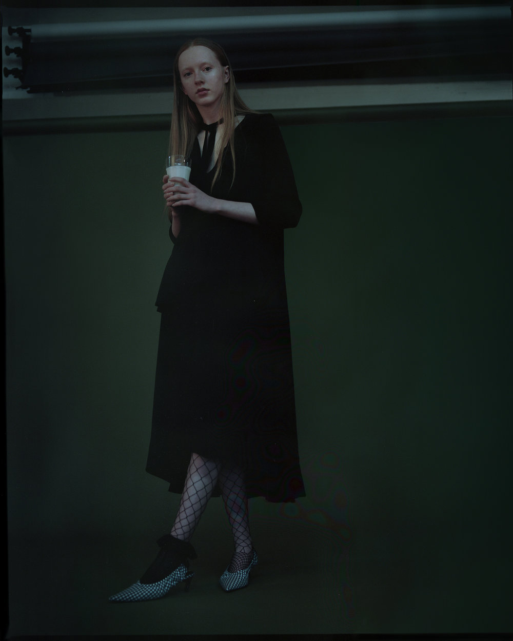 top + shoes ZARA, tights + earrings STYLIST'S OWN