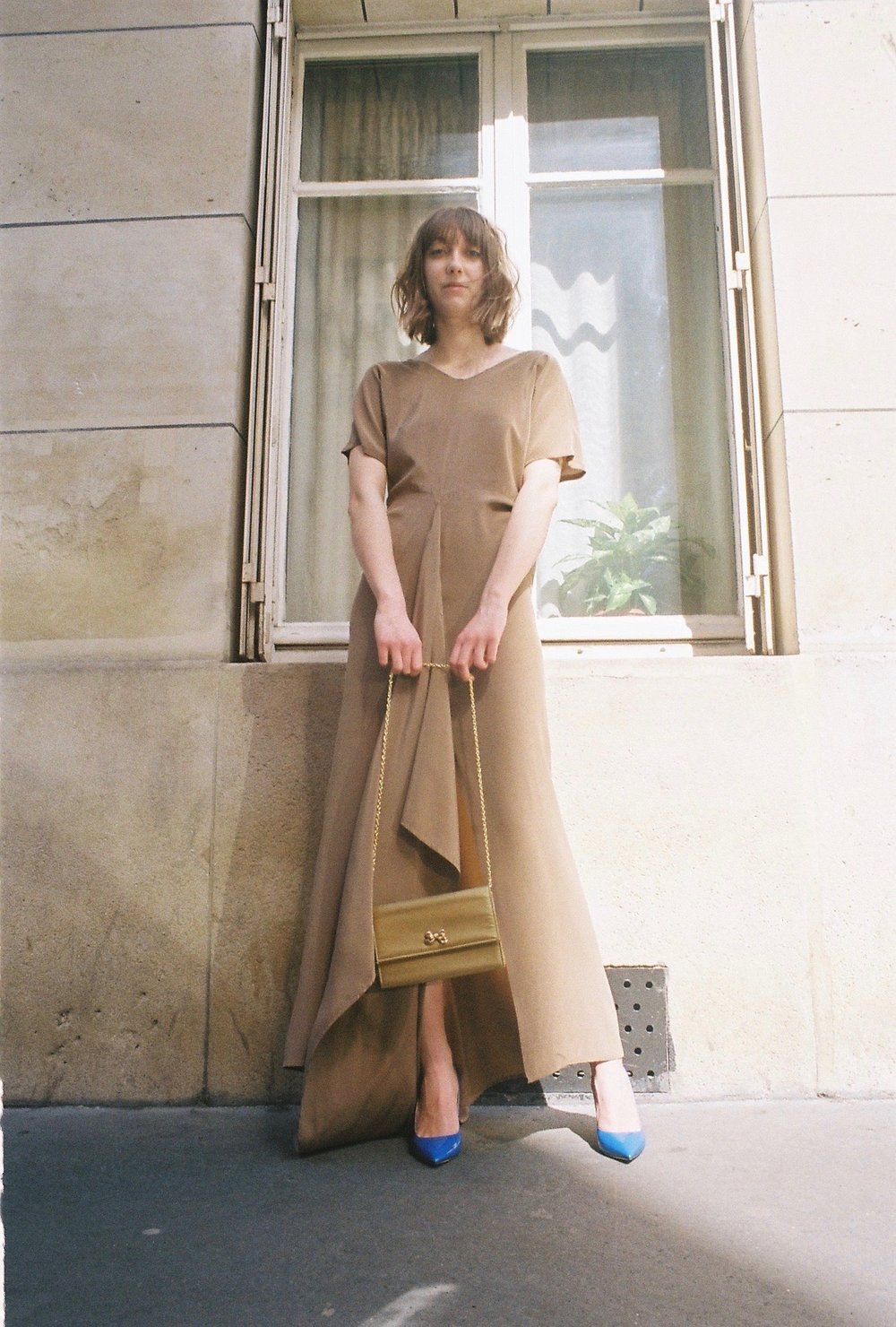 dress  MAISON DORIS , boots  REPETTO , bag  NINA RICCI  VINTAGE