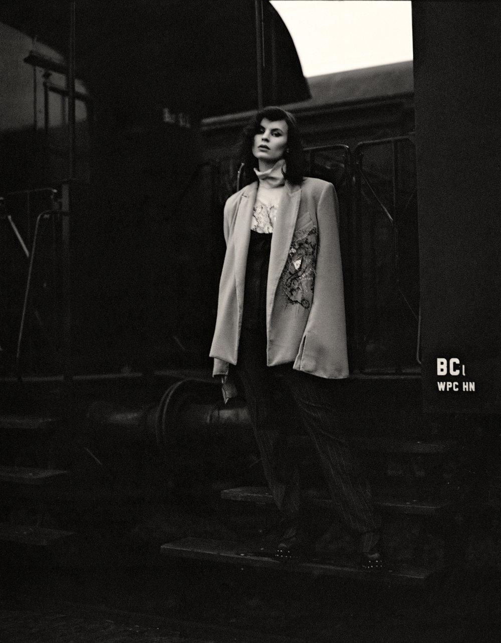 blouse + blazer  MAISON DE FAUX  jumpsuit  CHRISTINA ALBRECHT  shoes VINTAGE