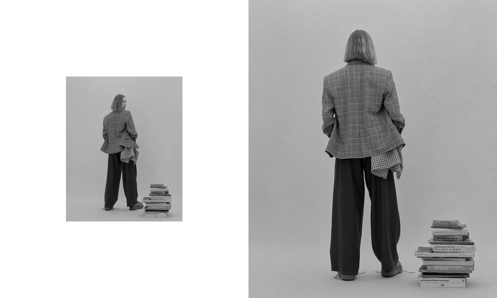 coat+trousers ZARA, shoes ACNE STUDIOS