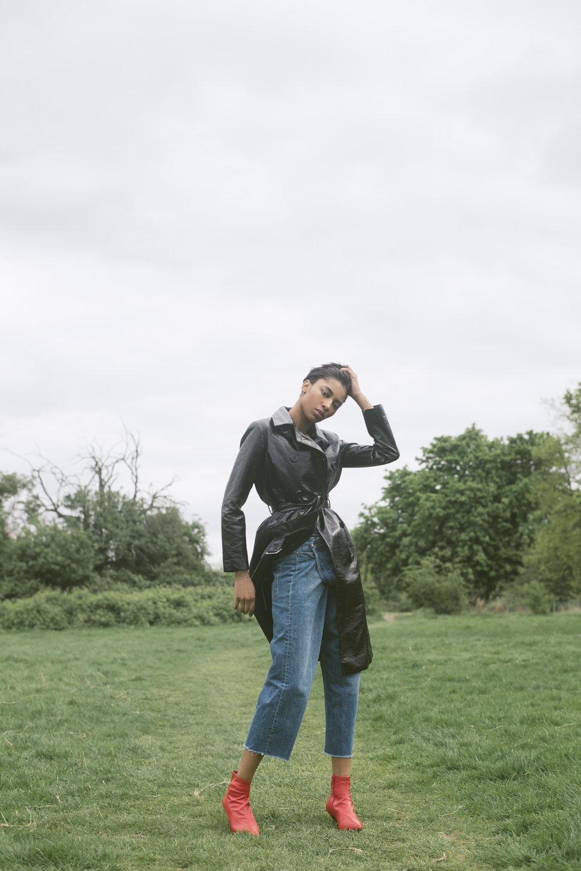 coat + boots TOPSHOP, jeans ZARA