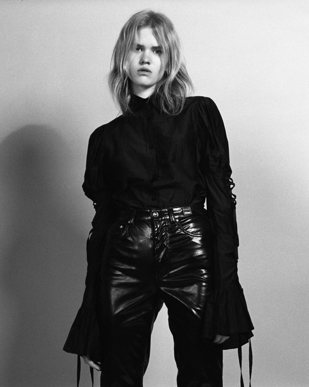 top Yves Saint Laurent, pants Versace